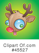 Royalty-Free (RF) Rudolph Clipart Illustration #45527