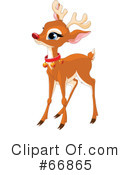 Royalty-Free (RF) Rudolph Clipart Illustration #66865