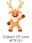 Royalty-Free (RF) Rudolph Clipart Illustration #73131