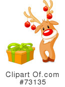 Royalty-Free (RF) Rudolph Clipart Illustration #73135