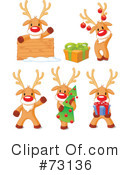 Royalty-Free (RF) Rudolph Clipart Illustration #73136