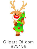 Royalty-Free (RF) Rudolph Clipart Illustration #73138
