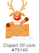 Royalty-Free (RF) Rudolph Clipart Illustration #73140