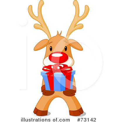Reindeer Clipart #73142 by Pushkin