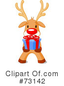 Royalty-Free (RF) Rudolph Clipart Illustration #73142
