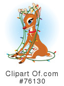 Royalty-Free (RF) Rudolph Clipart Illustration #76130