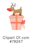 Royalty-Free (RF) Rudolph Clipart Illustration #78267