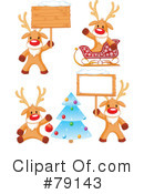 Royalty-Free (RF) Rudolph Clipart Illustration #79143