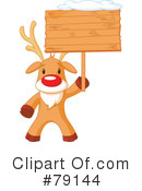 Royalty-Free (RF) Rudolph Clipart Illustration #79144