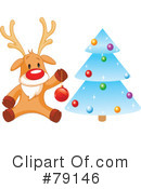 Royalty-Free (RF) Rudolph Clipart Illustration #79146