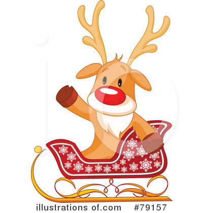 Reindeer Clipart #79157 by Pushkin
