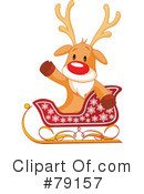 Royalty-Free (RF) Rudolph Clipart Illustration #79157