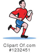 Royalty-Free (RF) Rugby Clipart Illustration #1232451