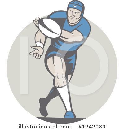 Rugby Clipart #1242080 by patrimonio