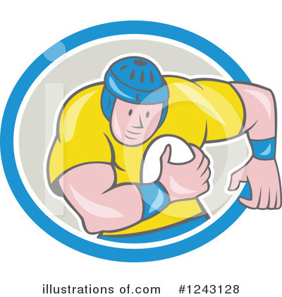 Rugby Clipart #1243128 by patrimonio