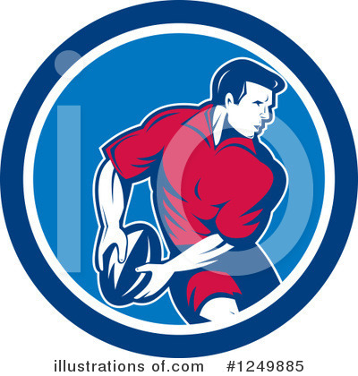 Rugby Clipart #1249885 by patrimonio