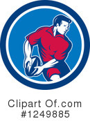 Royalty-Free (RF) Rugby Clipart Illustration #1249885