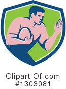 Rugby Clipart #1303081 by patrimonio