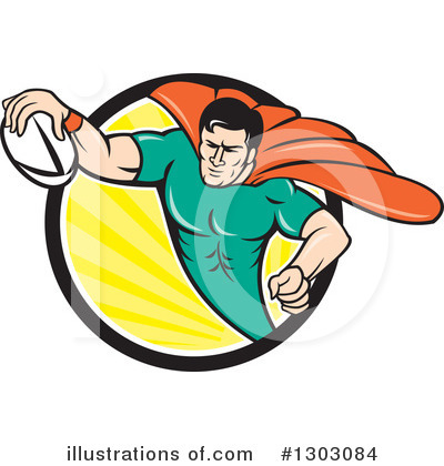 Royalty-Free (RF) Rugby Clipart Illustration by patrimonio - Stock Sample #1303084