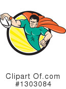 Royalty-Free (RF) Rugby Clipart Illustration #1303084