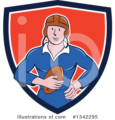 Rugby Clipart #1342295 by patrimonio