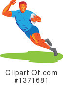 Royalty-Free (RF) Rugby Clipart Illustration #1371681