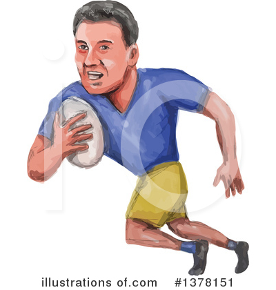 Rugby Clipart #1378151 by patrimonio