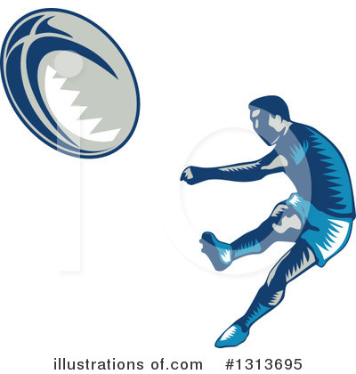 Rugby Clipart #1313695 by patrimonio