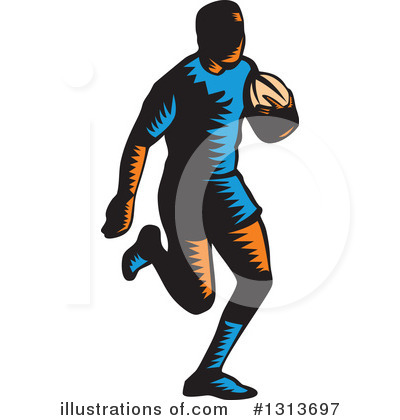 Rugby Clipart #1313697 by patrimonio