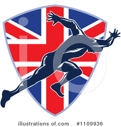 Royalty-Free (RF) Runner Clipart Illustration by patrimonio - Stock Sample #1109936