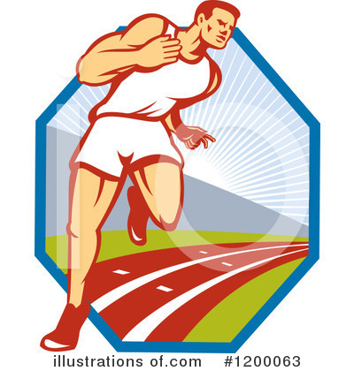 Track And Field Clipart #1200063 by patrimonio