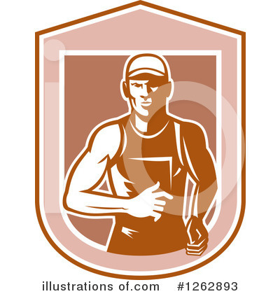 Royalty-Free (RF) Runner Clipart Illustration by patrimonio - Stock Sample #1262893