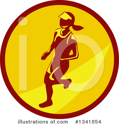 Royalty-Free (RF) Runner Clipart Illustration by patrimonio - Stock Sample #1341054
