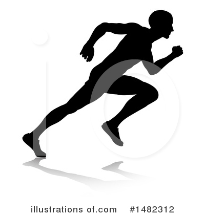 Runners Clipart #1482312 by AtStockIllustration