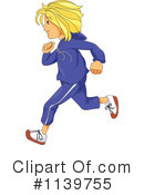 Royalty-Free (RF) running Clipart Illustration #1139755