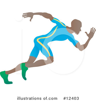Runners Clipart #12403 by AtStockIllustration