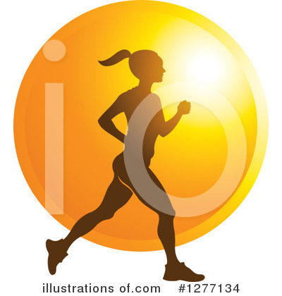 Jogging Clipart #1277134 by Lal Perera