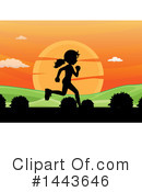 Royalty-Free (RF) Running Clipart Illustration #1443646