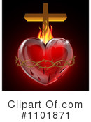 Royalty-Free (RF) Sacred Heart Clipart Illustration #1101871