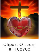 Royalty-Free (RF) Sacred Heart Clipart Illustration #1108706