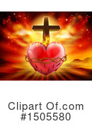 Sacred Heart Clipart #1505580 by AtStockIllustration