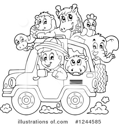 Jeep Clipart #1244585 by visekart