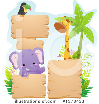 African Animals Clipart #1378433 by BNP Design Studio