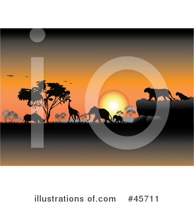 Royalty-Free (RF) Safari Clipart Illustration by pauloribau - Stock Sample #45711