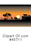 Royalty-Free (RF) Safari Clipart Illustration #45711