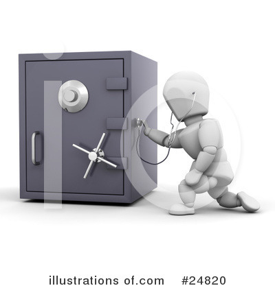 Royalty-Free (RF) Safes Clipart Illustration by KJ Pargeter - Stock Sample #24820