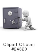 Royalty-Free (RF) Safes Clipart Illustration #24820