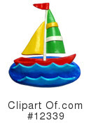 Royalty-Free (RF) Sailboat Clipart Illustration #12339