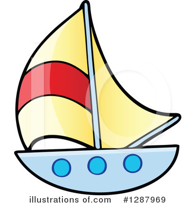 Royalty-Free (RF) Sailboat Clipart Illustration by visekart - Stock Sample #1287969