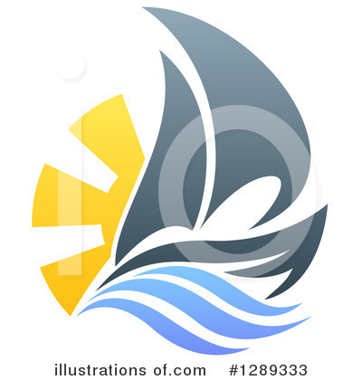 Sailing Clipart #1289333 by AtStockIllustration